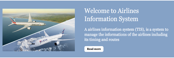Python, Django and MySQL Project on Airlines Information System