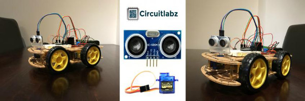 Arduino Project on Obstacle Avoiding Robot with Ultrasonic Sensor