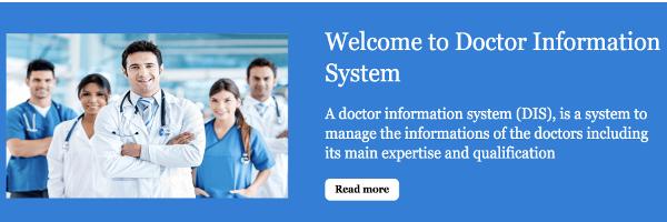 Python, Django and MySQL Project on Doctor Information System