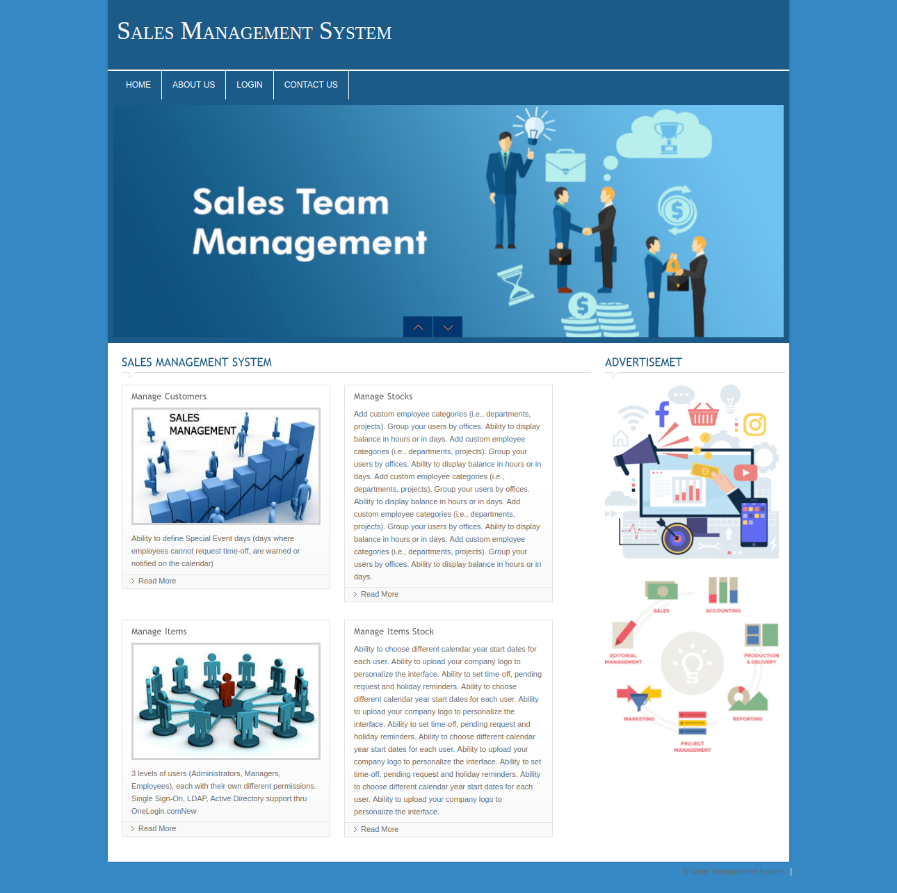 Sales Management System DBMS PHP and MySQL Mini Project