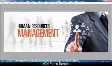 C# and MySQL Windows Application Project on Human Resource Management System