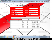 Examination Management System Project in Visual Basic and MS-Access Database