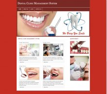 PHP and MySQL Project on Dental Clinic Management System