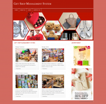 PHP and MySQL Project on Gift Shop Management System
