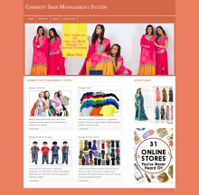 PHP and MySQL Project on Garment Shop Management System