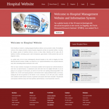 HTML, CSS and JavaScript Project on Hospital System