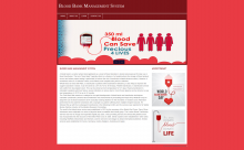 PHP and MySQL Project on Blood Bank Management System