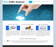 PHP Project on Web Traffic Analyzer with MySQL Database.