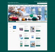 C#, ASP and MySQL Project on Online Medicine Store