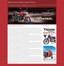 PHP and MySQL Project on Bike Showroom Management System