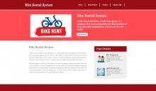 Python Django and MySQL Project on Bike Rental System