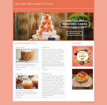 PHP and MySQL Project on Cake Shop Management System