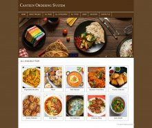PHP and MySQL Mini Project on Canteen Ordering System