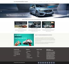 Car Recommendation System Project - Download Project Source