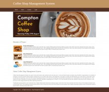 Python, Django and MySQL Project on Coffee Shop Management System