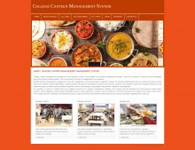 PHP and MySQL Project on College Canteen Management System