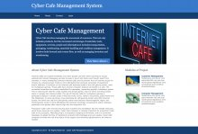 Python, Django and MySQL Project on Cyber Cafe Management System