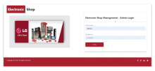 NodeJS, AngularJS and MySQL Project on Electronic Shop Management System