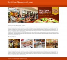 Python, Django and MySQL Project on Food Court Management System