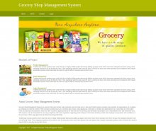 Python, Django and MySQL Project on Grocery Shop Management System