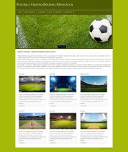 PHP and MySQL Project on Football Ground Booking System