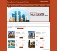 PHP and MySQL Project on Real Estate Management System