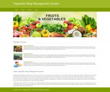 Python, Django and MySQL Project on Vegetable Shop Management System