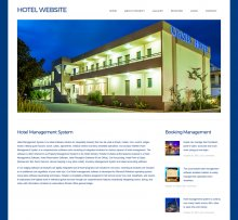 HTML, CSS and JavaScript Project on Hotel System