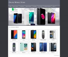 PHP and MySQL Mini Project on Online Mobile Store