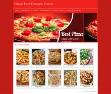 PHP and MySQL Mini Project on Online Pizza Ordering System