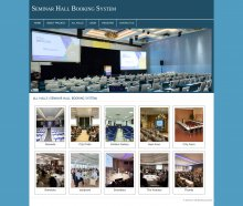 PHP and MySQL Project on Seminar Hall Booking System