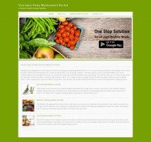 Java, JSP and MySQL Project on Vegetable Store Management System