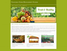 PHP and MySQL Project on Vegetable Store Management System