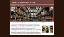 PHP and MySQL Project on Warehouse Management System