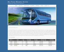 Bus Ticket Booking System Project - Download Project Source