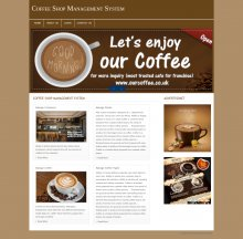 PHP and MySQL Project on Coffee Shop Management System