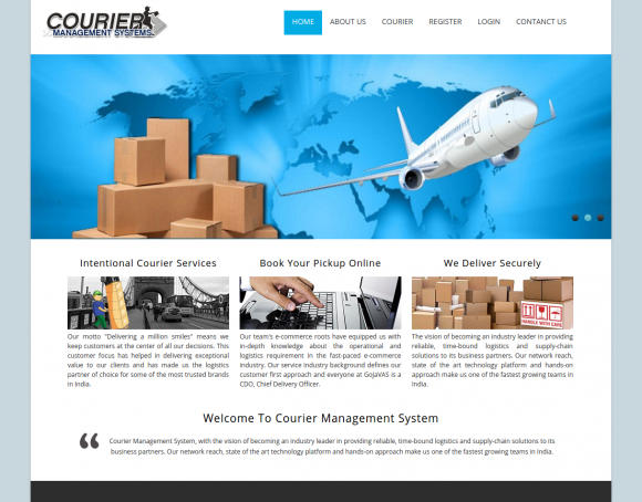 Download Free Download Courier Management System Project