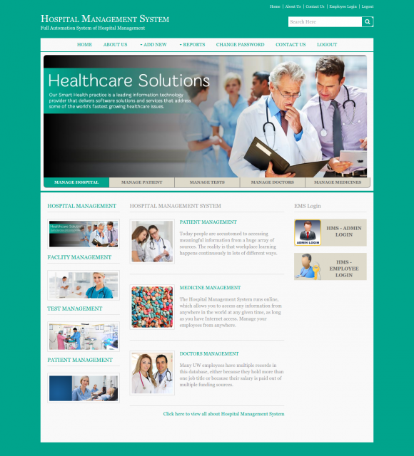 Download Project on Hospital Management System in Java | Synopsis ...