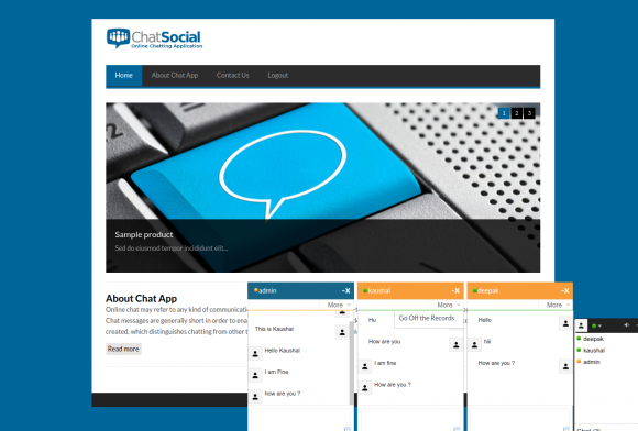 PHP & MySQL Project for Online Chat Application