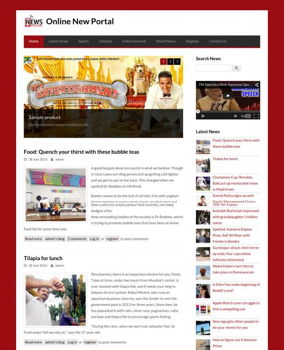 PHP & MySQL Project on Online News Portal