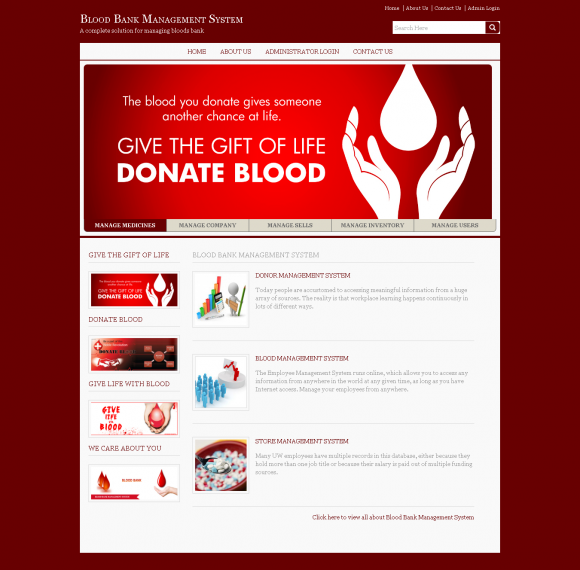 Blood bank management system project in java with source code free