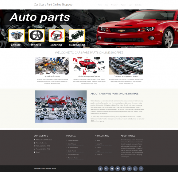 online vehicle showroom project srs