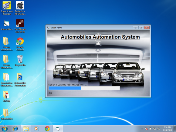Visual Basic and SQL Server 2000 Project on Automobile Automation System