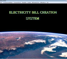 Electricity Billing System Project on Visual Basic and SQL Server 2000