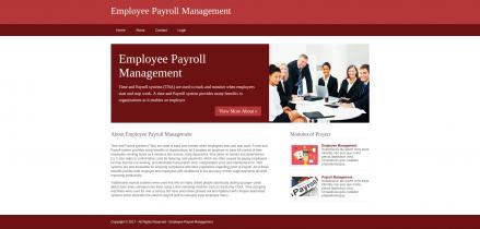 Python, Django and MySQL Project on Employee Payroll Management System