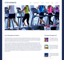 HTML, CSS and JavaScript Project on Gym System