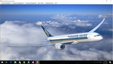 C# and SQL Server Windows Application Project on Airlines Reservation System