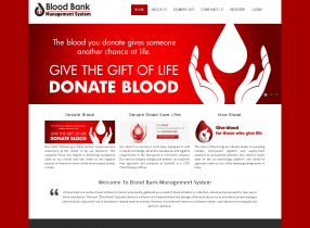 PHP and MySQL Project in Blood Bank Management System