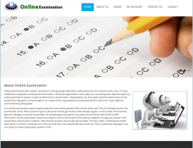PHP Project on Online Examination System with MySQL Database.