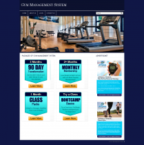 PHP and MySQL Project in Gym Management System